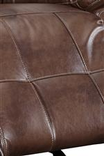 Tufted Detail in Seat Backs and Full Chaise Cushions
