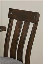 Slat Back Chair Design with Metal Accents