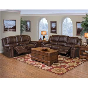 New Classic Hastings Reclining Living Room Group