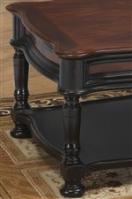 Fully Turned Pedestal Legs and Scalloped Table Edges