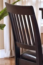 Slat Counter Height Chair Backs