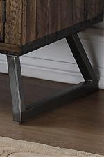 Angular Slate Black Iron Legs