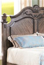 Arched Headboard with Carved and Moulded Detailing