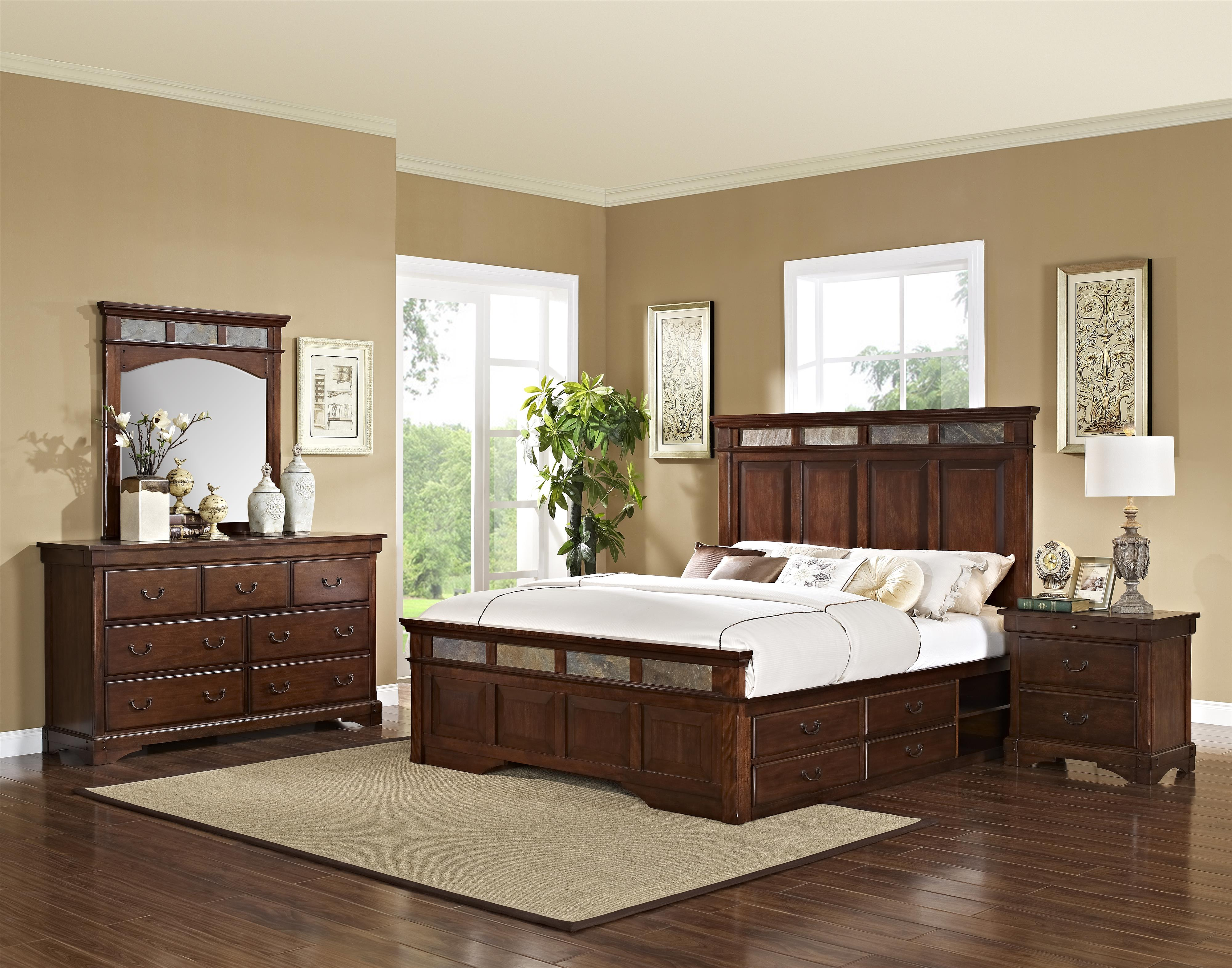 New Classic Madera  King Bedroom Group - Item Number: 00-455 K Bedroom Group 2