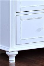 Turned Legs and Picture Framed Drawers with Beaded Inset Mouldings
