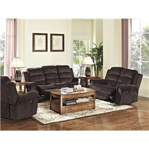New Classic Merritt Casual Power Recliner with Nailhead Trim on Rolled Arms