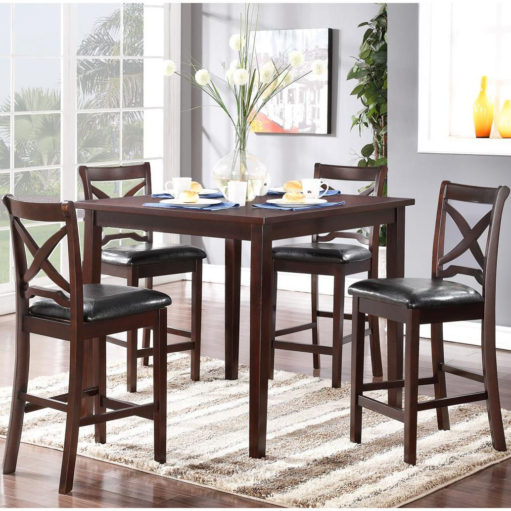 New Classic Milo Counter Height Table And Chair Set With Tapered Legs |  Michaelu0027s Furniture Warehouse | Dining 5 Piece Set