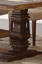 Thick, Carved Pedestal Base