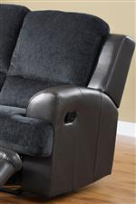Polyester Seat Back and Cushion Contrasted by Leather Match