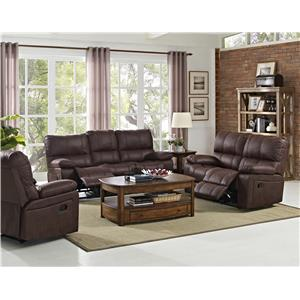 New Classic Riley Casual Reclining Sofa with Split Back Cushions
