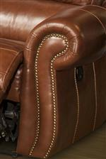 Rolled Panel Arms with Nailhead Trim