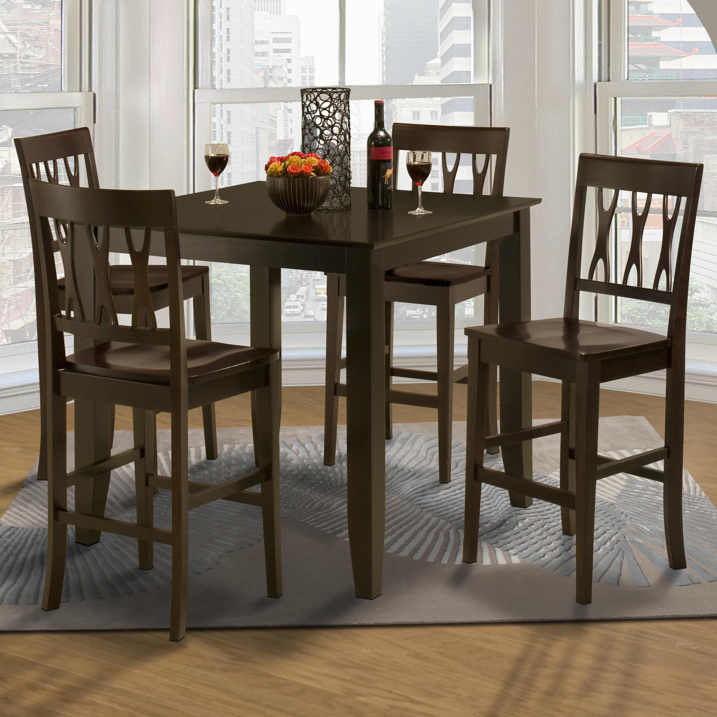 New Classic Style 19 Small Pub Table and Upholstered Chairs | Michael\u0027s Furniture Warehouse | Pub Table and Stool Sets & New Classic Style 19 Small Pub Table and Upholstered Chairs ...