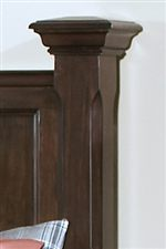 Crown Moulding and Stately Posts