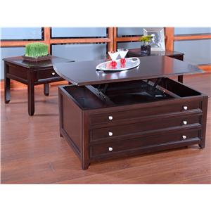 New Classic Ventura Lift-Top Cocktail Table with Side Storage Drawers