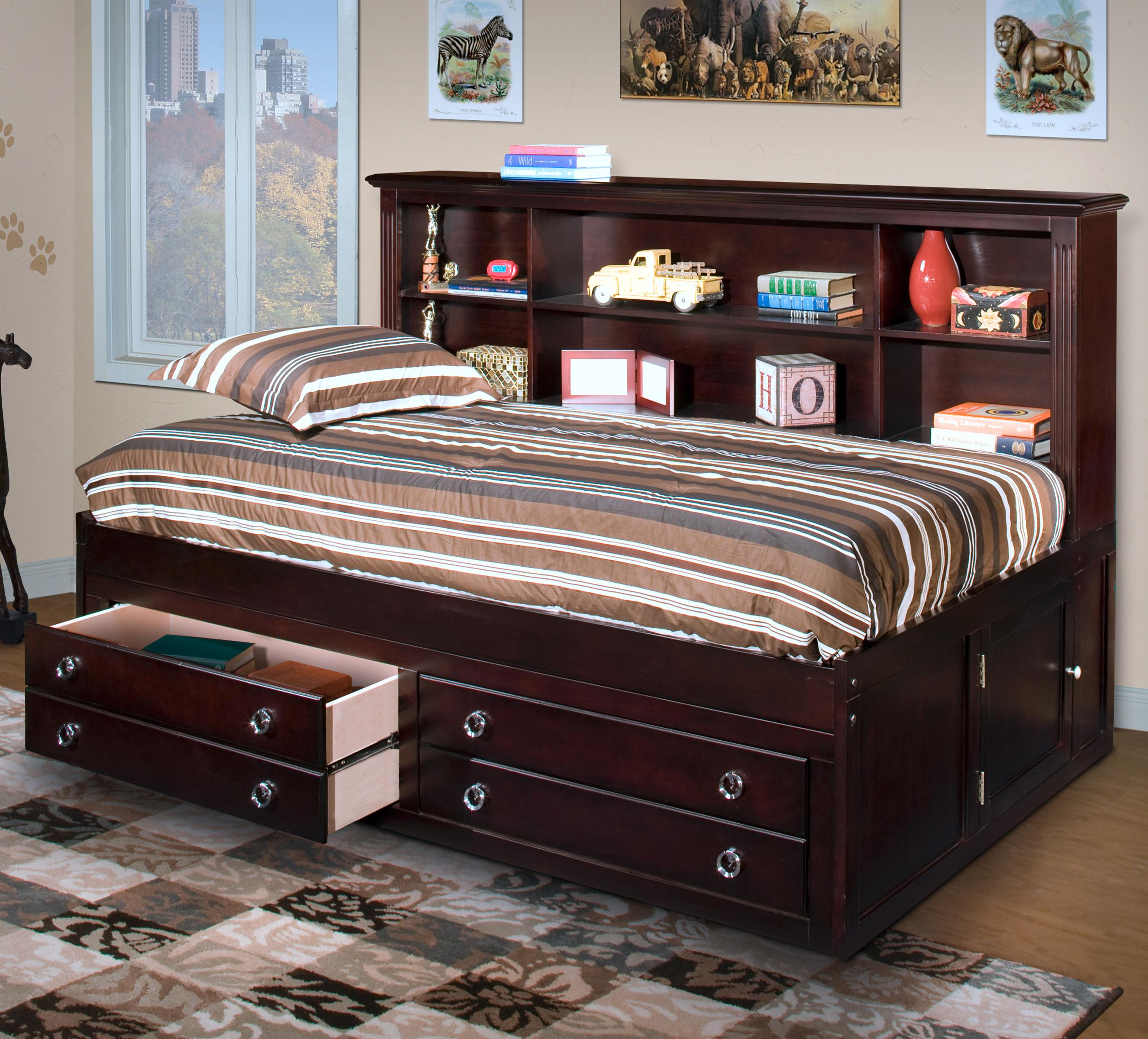 bed barchan full ashley design item captains storage by number bookcase signature products underbed with twin
