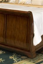 Beautiful Sleigh Footboard with Panel Detail