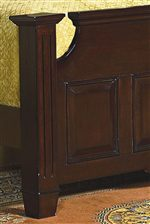 Traditional Bed Posts Add a Sophisticated Look to the Headboard and Footboard.
