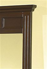 Framed Panels and Thick Mouldings Add a Unique Touch to this Mirror.