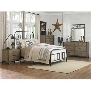 Next Generation by Magnussen Bailey Full Size Metal & Wood Headboard