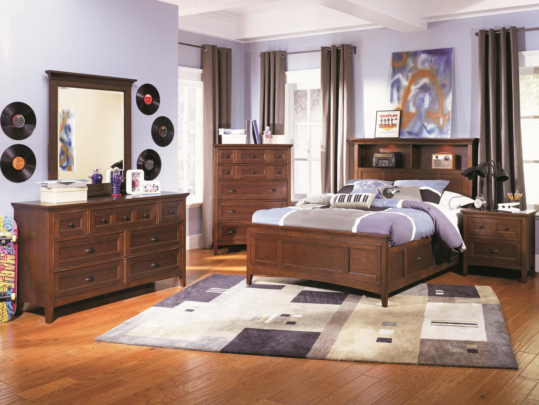 Next Home Bedroom Furniture Next Generation By Magnussen Riley Twin Panel Bed With Two Storage