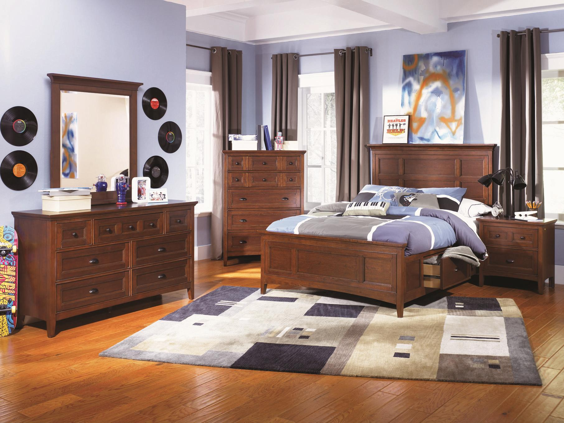 Magnussen Bedroom Furniture Next Generation By Magnussen Riley Twin Bed With Bookcase