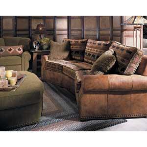 Norwalk Stowe Leather Sofa W Nailheads