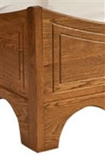 Detail Curvature Featured on Sleigh Bed's Base