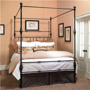 Old Biscayne Designs Custom Design Iron and Metal Beds Aristas Canopy Bed  with Carved Ball Accents