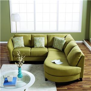 Palliser Alula 70427 Sectional Sofa with Corner Curve and Chaise