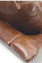 Semi-attached back cushions