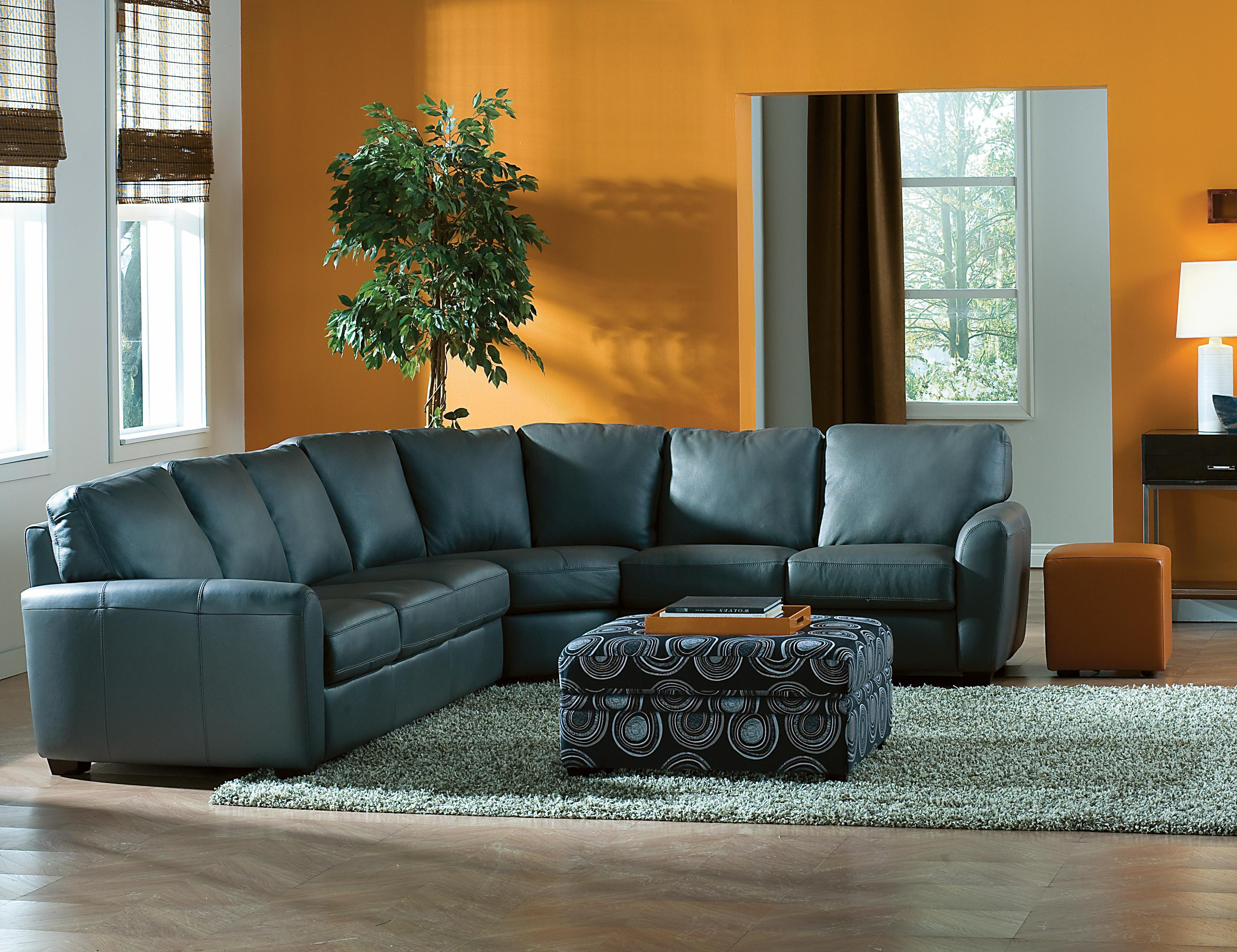 Living Room Furniture Ct Palliser Connecticut Contemporary Sectional Sofa With Lhf Loveseat
