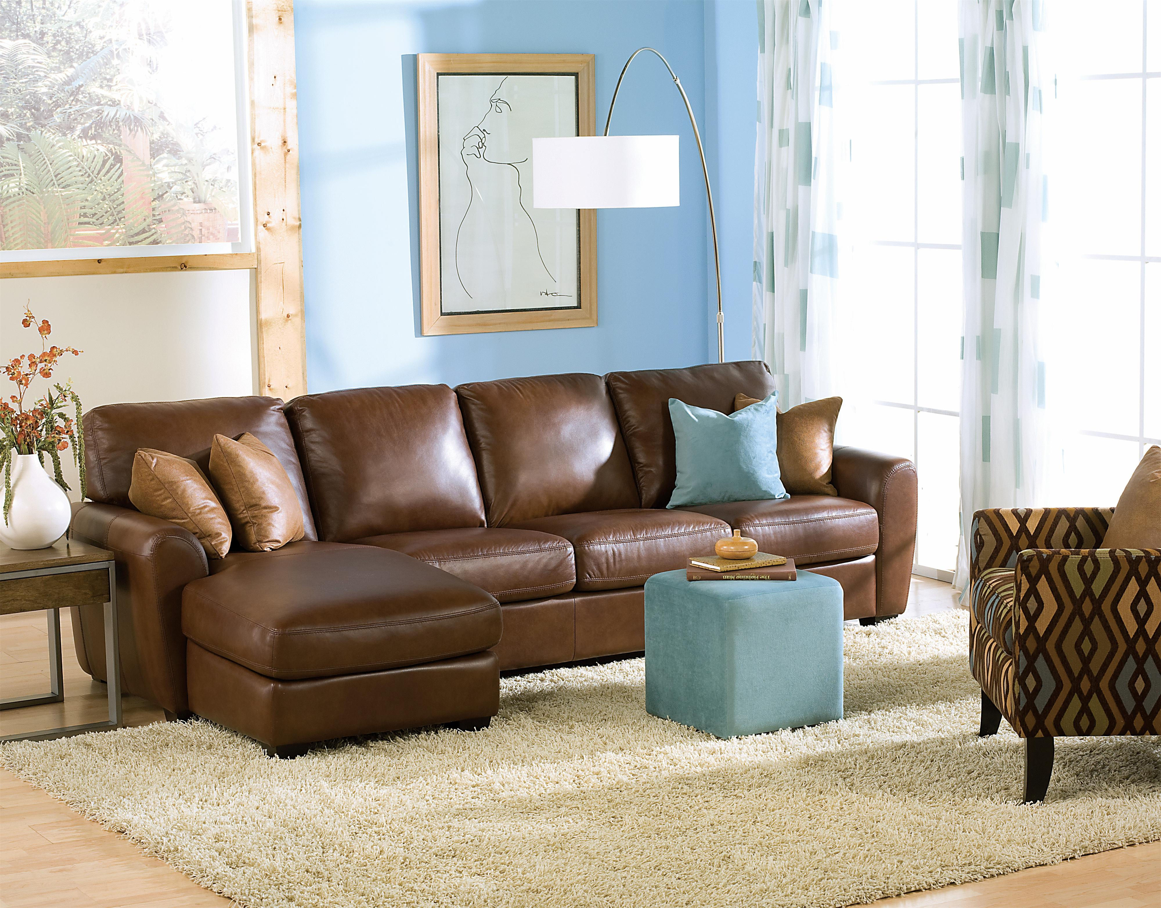 Palliser Connecticut Contemporary Sectional Sofa with LHF Loveseat