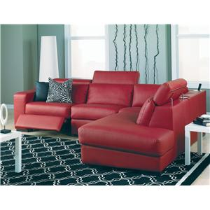 Palliser Cortez II Powered Left Hand Facing 5 Pc Sectional w/ Nest