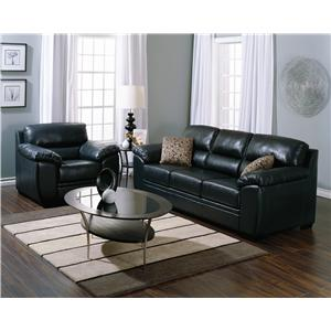 Palliser Cypress Contemporary Sectional Sofa with Chaise