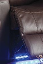 Chaise Footrest with underneath LED Lighting