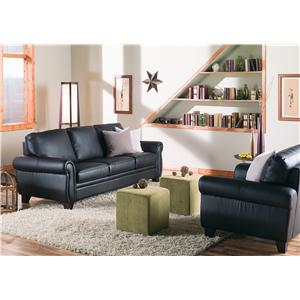 Palliser Meadowridge Transitional Sofa with Rolled Panel Arms