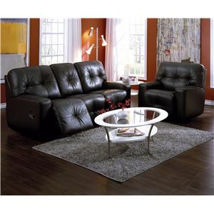 Palliser Mystique Transitional Reclining Sectional with Left and Right Chaise