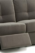 Center-Tufted Seat with Padded Footrest