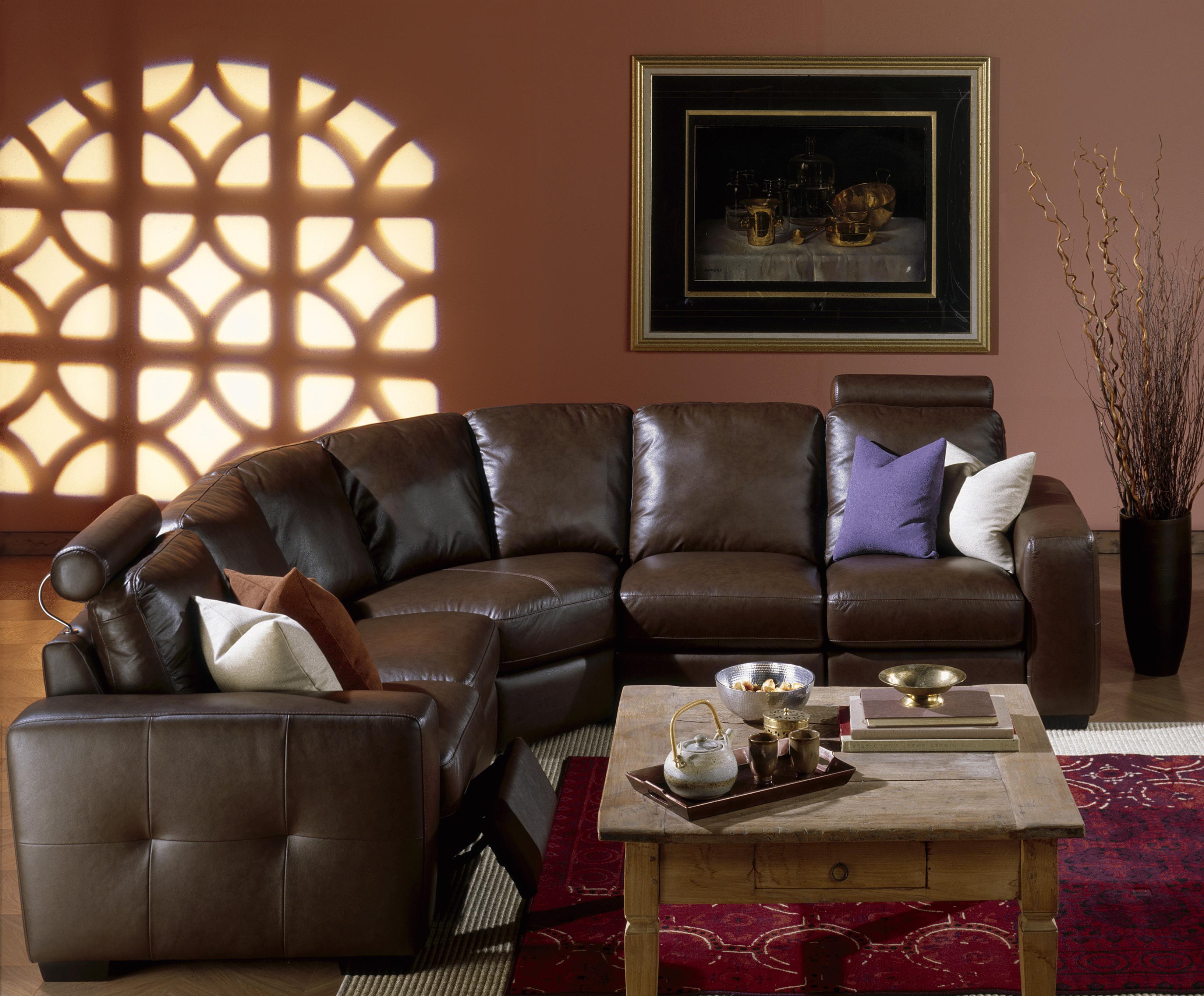 Palliser Push Contemporary Power Dual Reclining Sectional Sofa