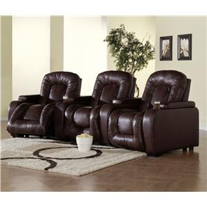 Palliser Rhumba Three Person Home Theater Recliner with Manual and Power Lifts