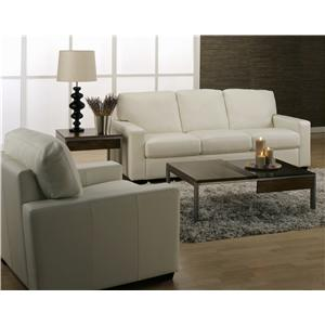 Palliser Westend Contemporary Loveseat with Track Arms