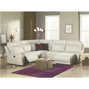 Palliser Westpoint Contemporary Left Hand Facing Sectional w/ Chaise & Recliner