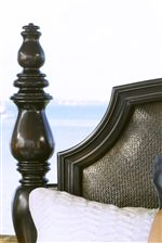 Thick Classically-Inspired Turned Bed Posts