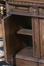 Hidden Shelf Storage in the Executive Desk