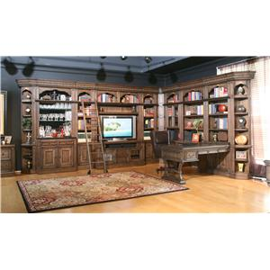 Parker House Aria Library Traditional 2 Piece Entertainment Center