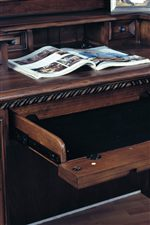 Pull-out Drop Front Keyboard and Laptop Drawers are Convenient Working Stations