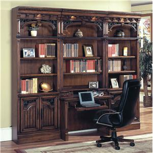 Parker House Barcelona Large Bookcase Wall and Home Office System