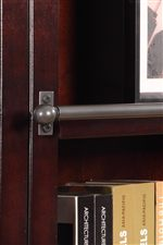 Bookcase Ladder Rails can be Removed and Replaced with Decorative Bolts (Provided)