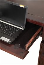 Desks Feature Drop Front Pull-Out Drawers for Keyboard or Laptop Storage