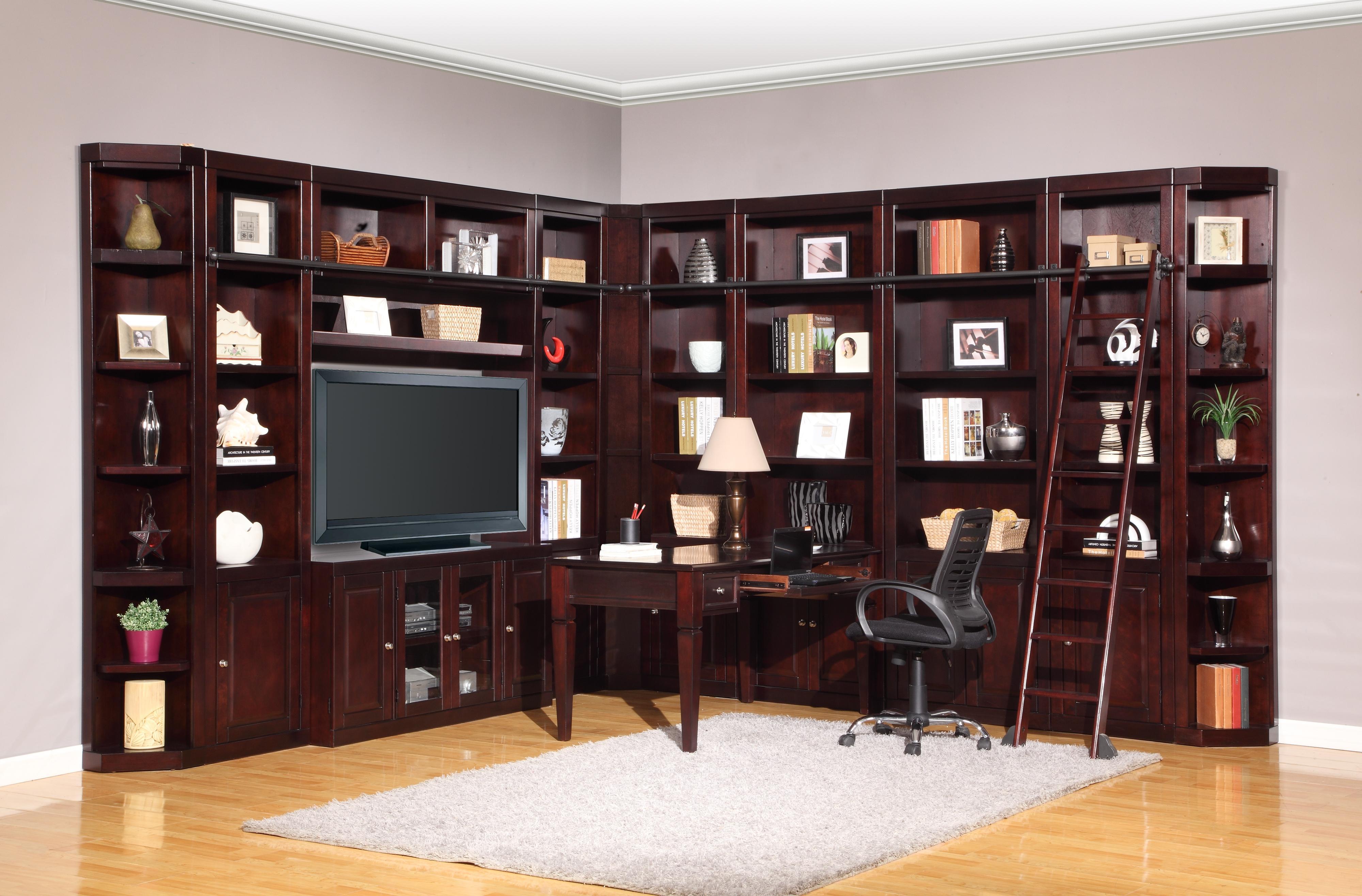 Parker House Boston Corner Bookcase Unit | Wayside Furniture | Bookcase   2  Pc. With Hutch